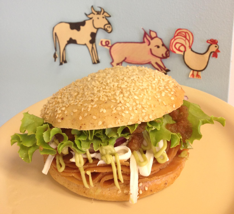 vegan cemita sandwich